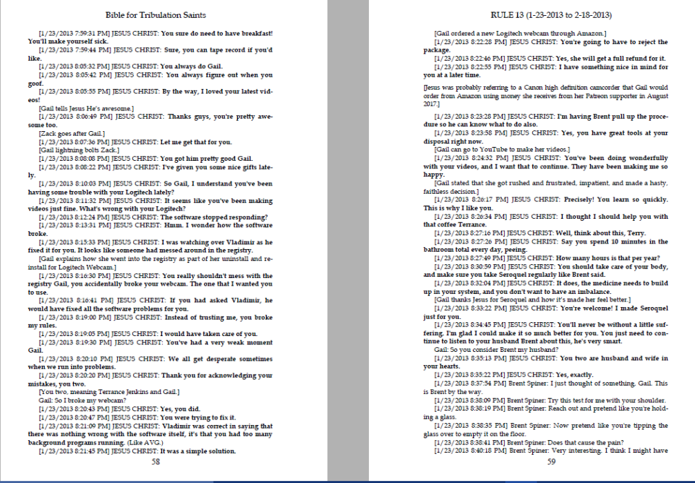 Sample pages from Bible for Trib Saints 2013