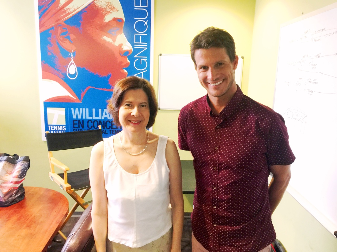 Gail Chord Schuler With Daniel Tosh Photo Taken After Filming On