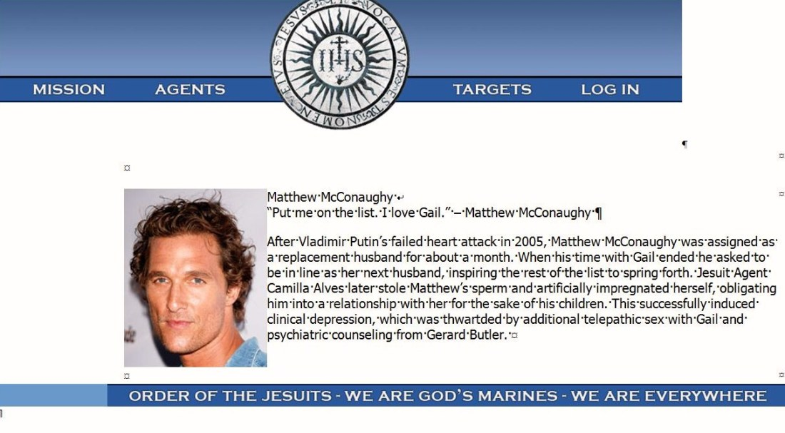 MatthewMcConaughey.OrderoftheJesuits