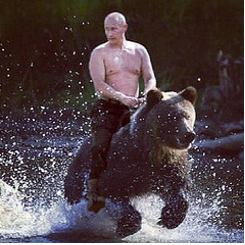 Vladimir on his bear