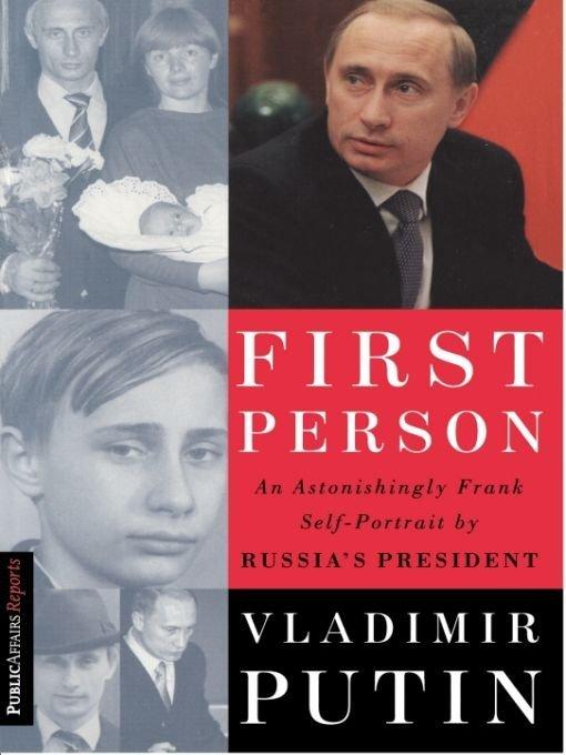 Putins First Person Book