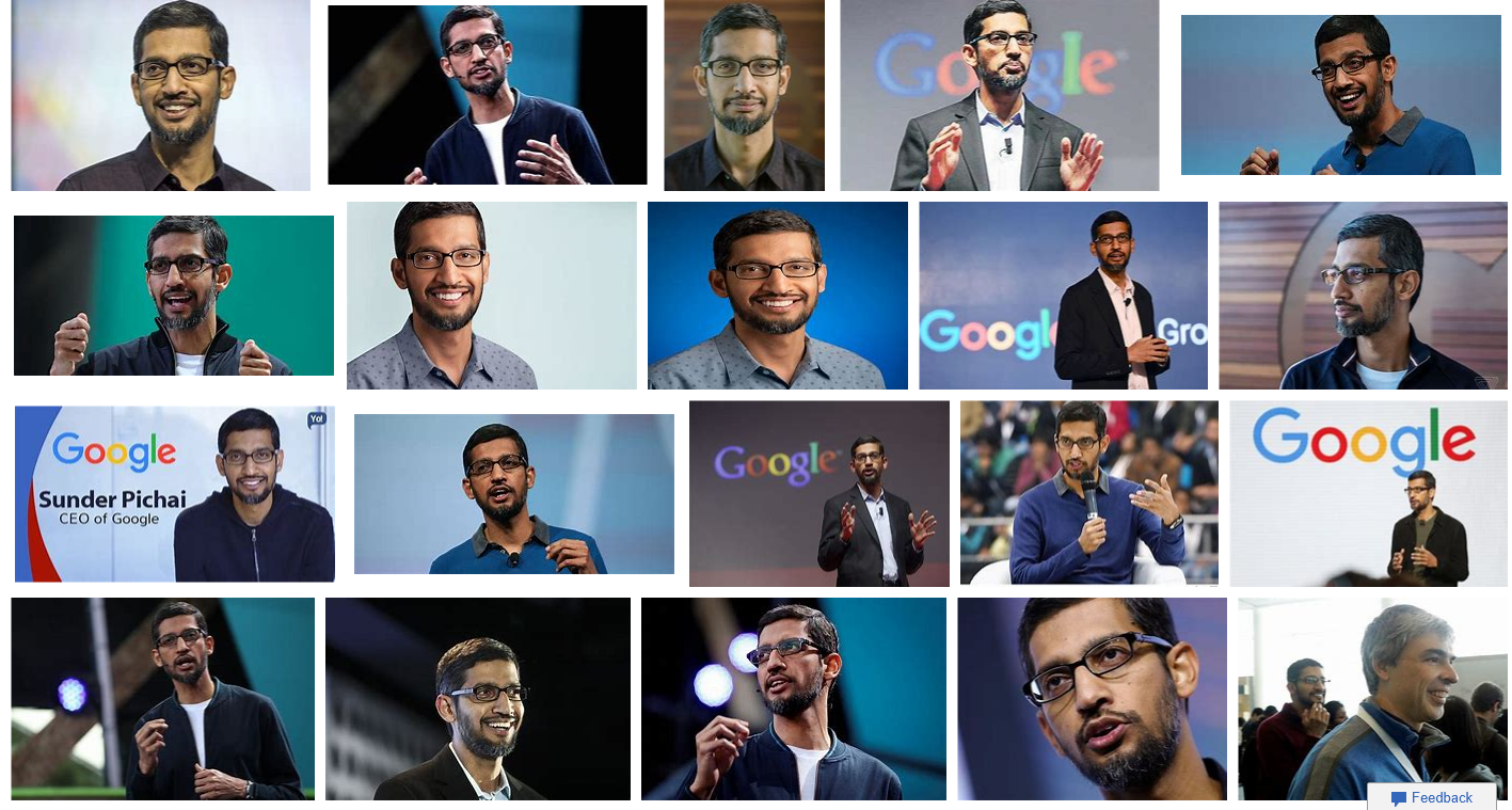 Sunder Pichia Google CEO photos